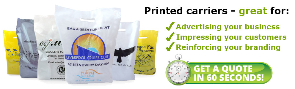 Printed carriers - great for: Advertising your business. Impressing your customers. Reinforcing your branding.